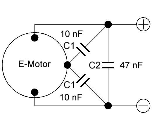 RC-CAR`S 1:24 bis 1:18 - Bürstenmotoren entstoeren